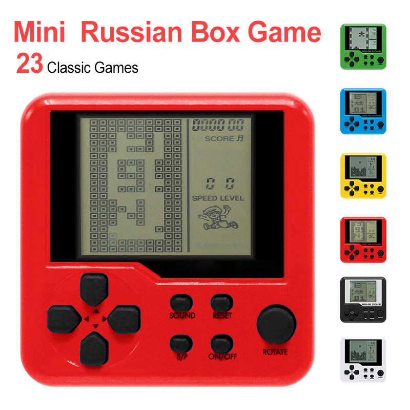 For Kids Tetris Handheld Game Console Children Puzzle Electronic Toys Mini Game Handheld Player Multicolor Retro Game Console