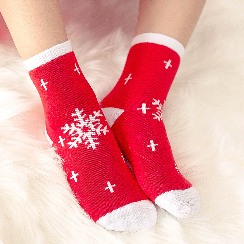 1 пара, рождественские подарки для детей, рождественские носки 25*8 см женские носки новогодние подарки, чулки рождественские подарки, год - Цвет: Type six