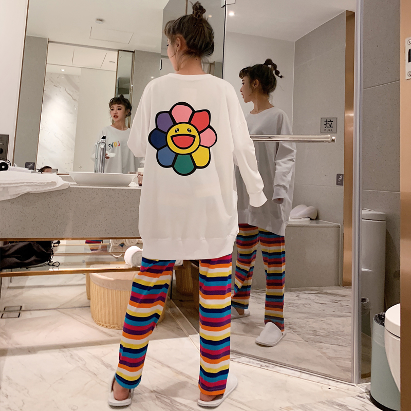 Spring And Autumn Funny Pajama Sets For Women Loose Comfort Good Quality Pyjamas Woman's Casual Pijama Premium Night Sleepwear