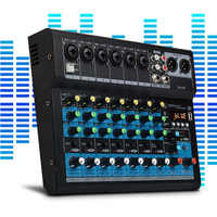 8 Channel Bluetooth USB Cable Professional Stage Performance Audio Mixer Sound Board Console Mixing Station Controller - EU Plug