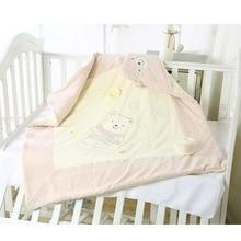 Мягкий спальный мешок для младенцев, Хлопковое одеяло для новорожденных мальчиков и девочек, мультяшное одеяло, детские покрывала, детский спальный мешок