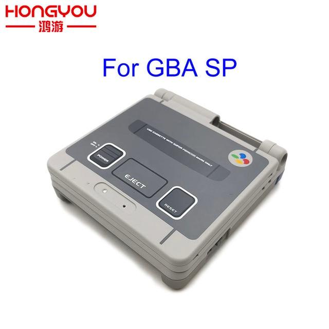 Sınırlı sayıda tam konut kabuk değiştirme için Nintendo Gameboy Advance SP için GBA SP oyun konsolu kapak kılıf