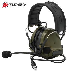 Image 2 - COMTAC III TAC SKYcomtac iii silicone earmuffs electronic noise reduction pickup military tactical interphone shooting headsetFG
