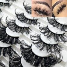 Eye-Makeup-Tools Lashes-Extension False-Eyelashes Mink-Hair Cross-Fluffy 25mm Handmade