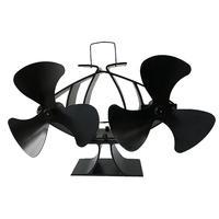 6 Blade Fireplace Fan Twin Motor Heat Powered Stove Fan Eco Fireplace Fan for Wood Gas Coal Pellet Log Heaters