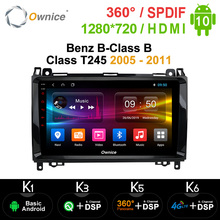 Ownice navegador GPS para coche Mercedes Benz Clase B T245 2006 2012 10,0, DSP 4G LTE SPDIF, Android 2005, Octa Core, DVD