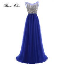 Evening Dresses 2019 New Arrival Crystal Beading Party Dress Sexy Long Formal Gowns