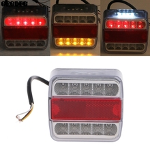 цены DC 12V 14 LED Truck Car Trailer Boat Caravan Rear Tail Light Stop Lamp Taillight