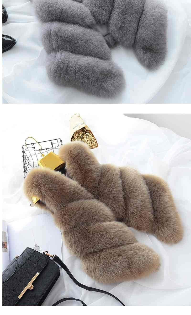 Women's Fox Fur Waistcoat 17