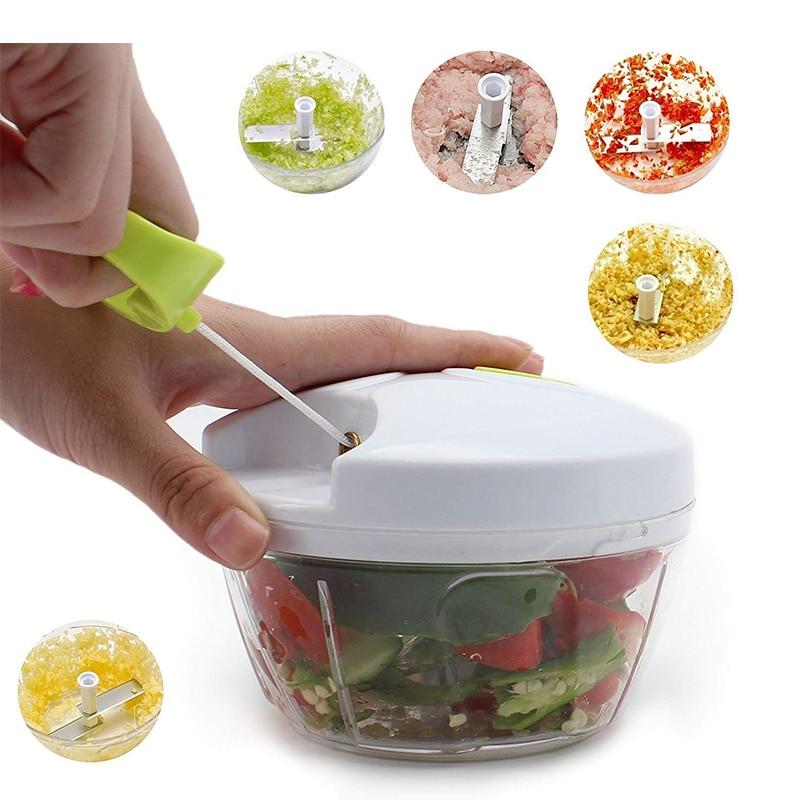 H282f3d188c4c47d0812ed5d2495e9f3cq Multifunction Hand Pull Food Chopper Vegetable Fruit Slicer Meat Grinder Nuts Onions Chopper Mincer Blender Mixer Kitchen Tools