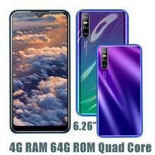 9C MTK oryginalny Face ID uznanie odblokowany telefon komórkowy Smartphone 6.26 ''ekranu kropli wody z systemem Android 4G RAM 64G ROM na telefon komórkowy