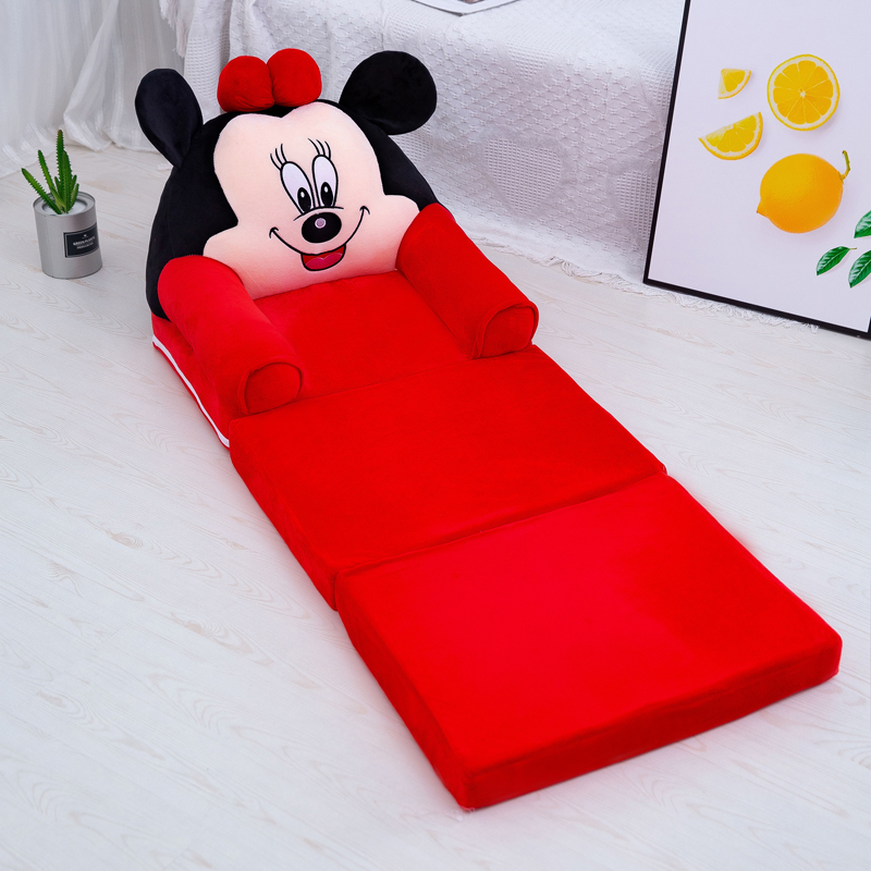 Baby Kid Sofa Fashion Cartoon Crown Seat Child Chair Toddler Child Cover For Sofa Folding With Filling Material Mini Sofa 115cm