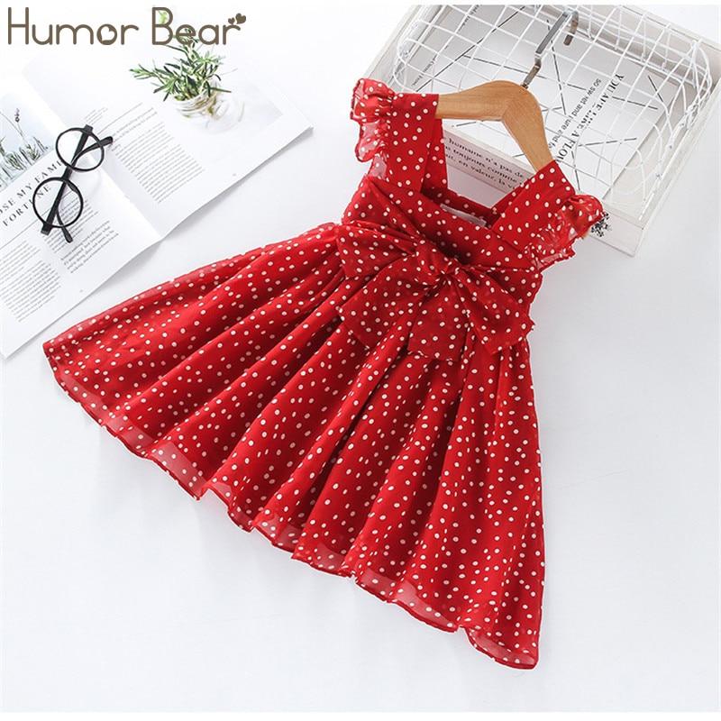Humor Bear Girls Dress SummerBrand New Dress For Girls Sleeveless Chiffon Polka Dot Dress Princess Dress Girl Toddler Dress|Dresses|   - AliExpress