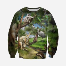 Harajuku Leisure 3D Printing Animal World Men s and Women s Sweater Fashion Long Sleeve Top Casual Pullover Hot Sale Large Size