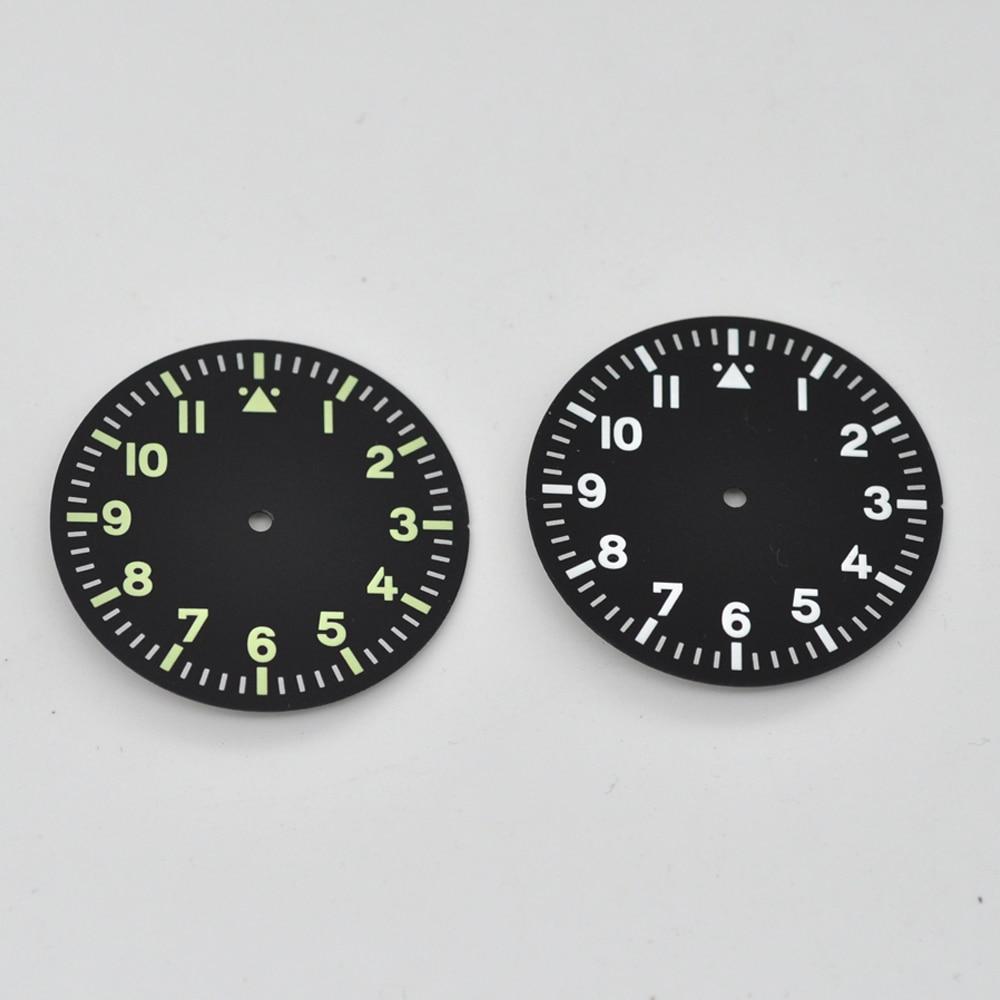 Watch Parts,35.5mm Black Watch Dial Fit Miyota 8205/8215/821A Mingzhu DG 2813/3804 Movement Wristwatch