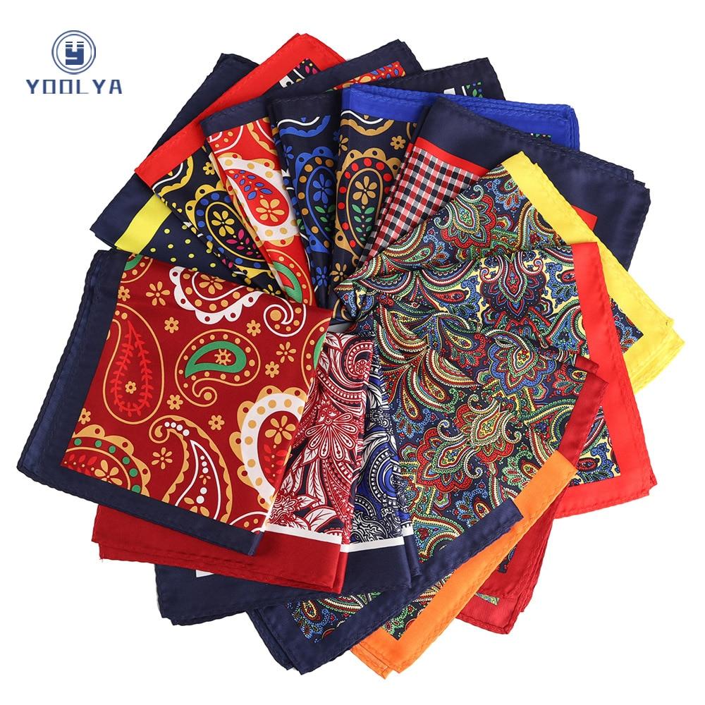 Fashion 33 X 33CM Man Paisley Floral Pocket Square Hankies Chest Towel Big Size Handkerchief For Men's Suit Wedding Party
