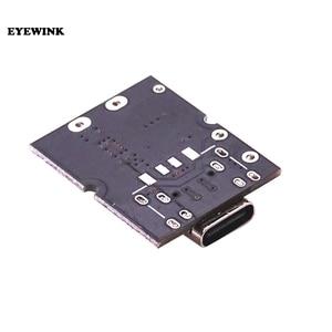 Tipo-c usb 5v 2a boost converter step-up módulo de energia de lítio bateria de carregamento placa de proteção led display usb para diy carregador