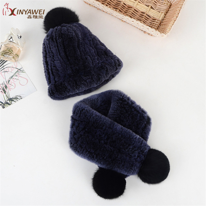 Knitted Baby Hat, Girl's Hat,Double-Skinned Ball Cap,2pcs, Warm Winter Rabbit Hat And Scarf, Beret Accessories.