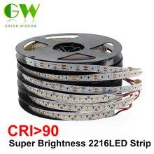 High End Led Strip Smd 2216 Cri 90 12V 120Leds/M 24V 300Leds/M 3000K 4000K 6000K Hoge Helderheid Flexibele Led Light Tape 5 M/partij