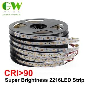 Image 1 - High End Led Strip Smd 2216 Cri 90 12V 120Leds/M 24V 300Leds/M 3000K 4000K 6000K Hoge Helderheid Flexibele Led Light Tape 5 M/partij