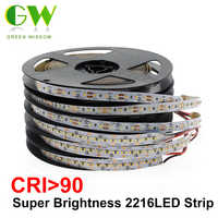 High-End-LED Streifen SMD 2216 CRI> 90 12V 120 LEDs/m 24V 300 LEDs/ m 3000K 4000K 6000K Hohe Helligkeit LED-Licht Flexible Band 5 mt/los
