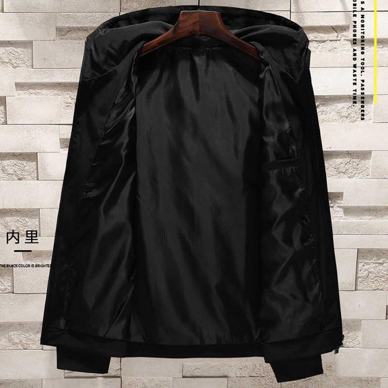 플러스 사이즈 8XL 후드 자켓 망 Streetwear XXXXXXXXL 여름 느슨한 후드 망 코트 윈드 브레이커 유럽과 미국 스타일 A654
