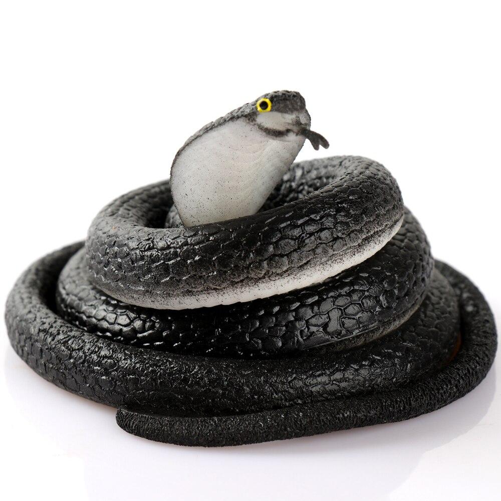 80cm Simulation Toy Cobra Practical Jokes Interesting Prank Horror Fun Shocker Novelty Gadgets Funny Toys Animals Snake Toys