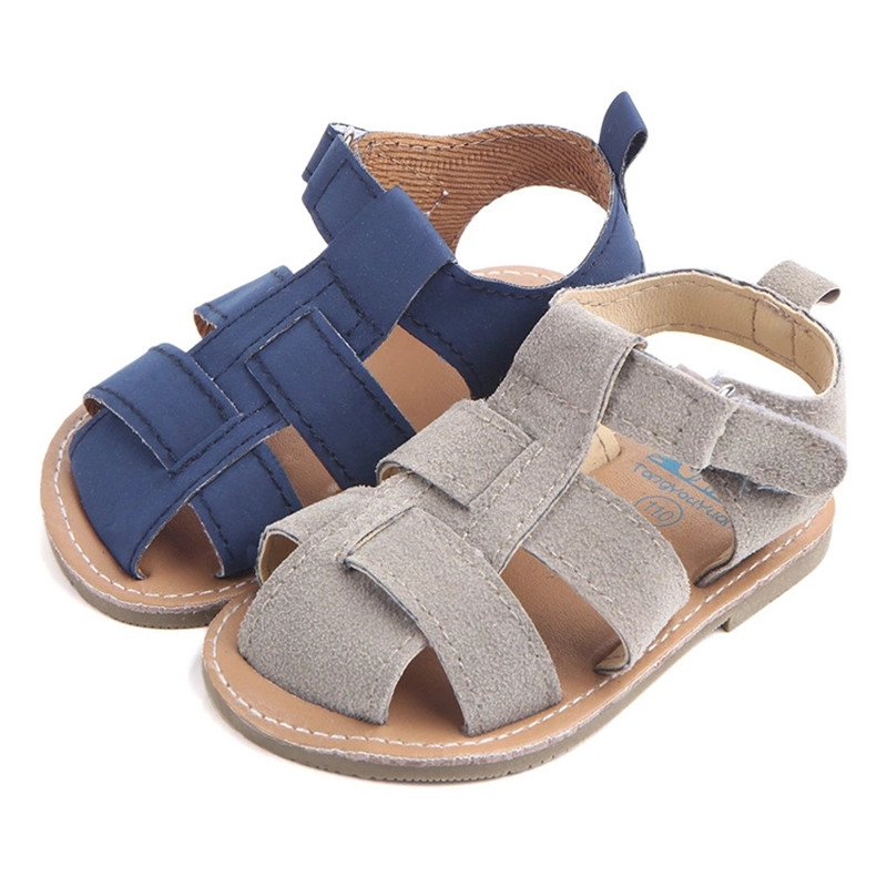 1pair Anyongzu Fashion Baby Boy Sandal Shoes Casual Summer Shoes For Boy Rubber Sole Shoes  Baby Girl Shoes Two Color
