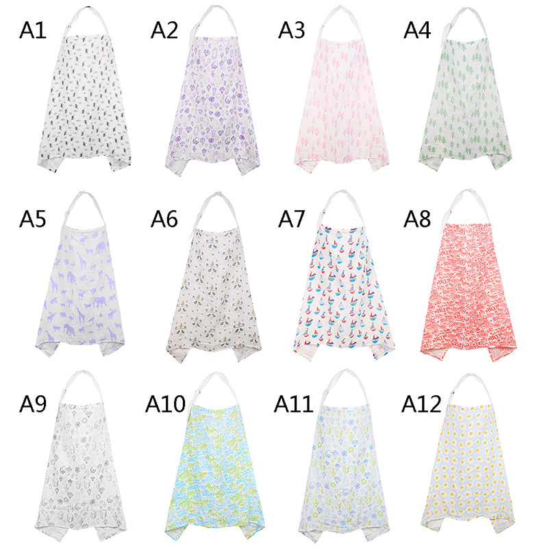 Feeding Mother Nursing Cloth Breathable Breastfeeding Cover Cotton Privacy Apron Outdoors Nursing Cover Scarf Towel