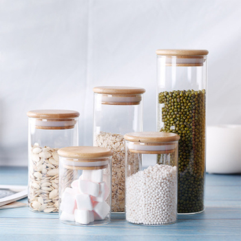 Big Capacity High Borosilicate Food Sealed Glass Jar Kitchen Seasoning Seal Condiment Airtight Box Moisture-proof Waterproof