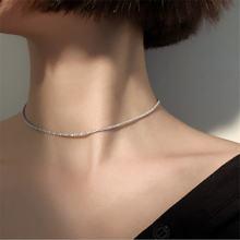 Модное серебряное ожерелье чокер luokey с кристаллами для женщин