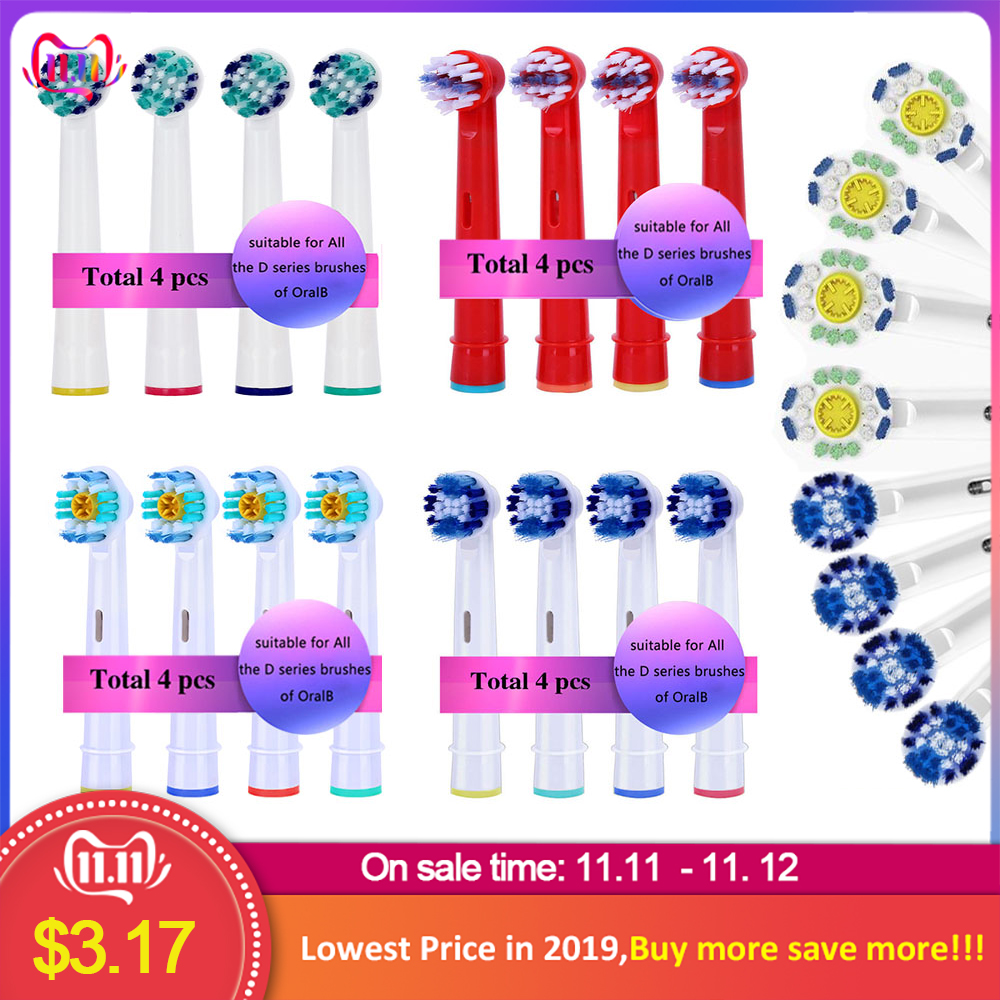 Oral B 3D ToothBrush Heads  Replacement Brush  Head Rotation Type EB30 EBS17 EB25 EB50 EB18 EB20 EB60