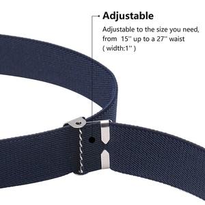 Image 3 - 9 estilos de cinturones magnéticos para niños pequeños para niños niñas, cinturón elástico ajustable magnético con hebilla magnética para niños