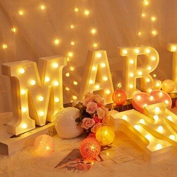 DIY LED Buchstaben 26 Englisch 0-9 Digitale Zahl Kreative Leucht LED Brief Nacht Licht Weihnachten Hochzeit Geburtstag Party Decor