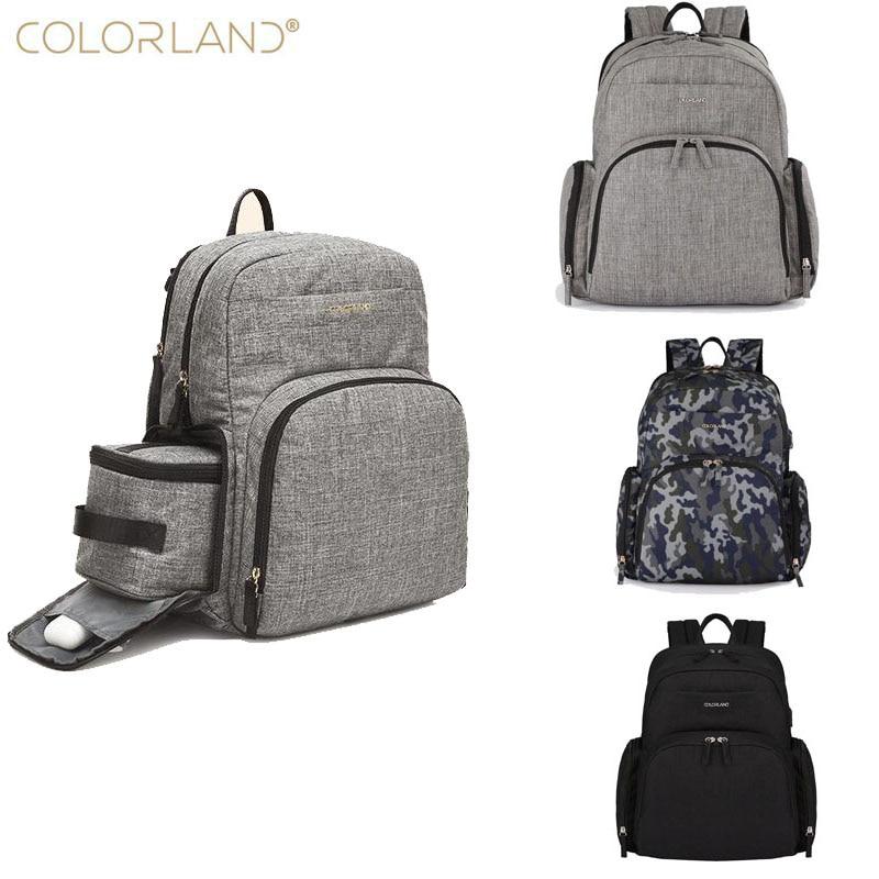 COLORLAND brand Mummy bag pregnant women diaper large care leisure travel backpack designer baby stroller