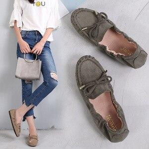 Image 1 - حذاء نسائي جديد صيفي بدون كعب حذاء أكسفورد 2020 حذاء نسائي مسطح غير رسمي أسود أخضر ناعم تصميم علامة تجارية بدون كعب