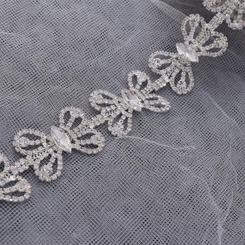 Escote 6 Oro Hierro-En Apliques de transferencia de adorno de Diamantes de Imitación Diamante