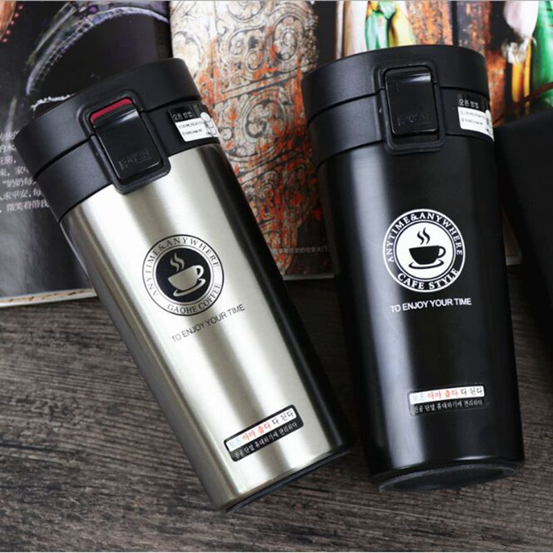 HOT Premium Travel Coffee Mug Stainless Steel Thermos Tumbler Cups Vacuum Flask thermo Water Bottle Tea HOT Premium Travel Coffee Mug Stainless Steel Thermos Tumbler Cups Vacuum Flask thermo Water Bottle Tea Mug Thermocup