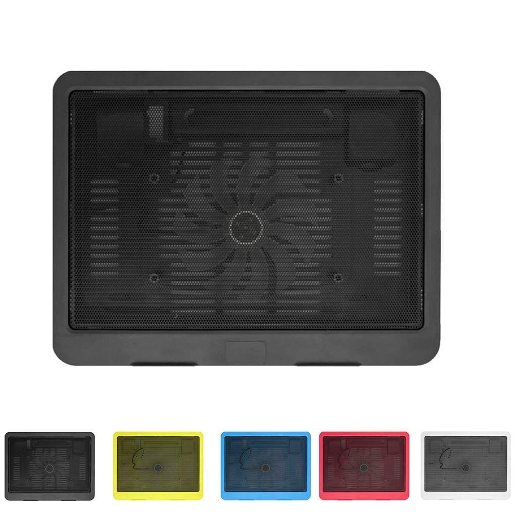 Ultra Thin Laptop Cooling Pad Adjustable Stand Notebook Ventilation Fan USB Computer Bracket Cooler