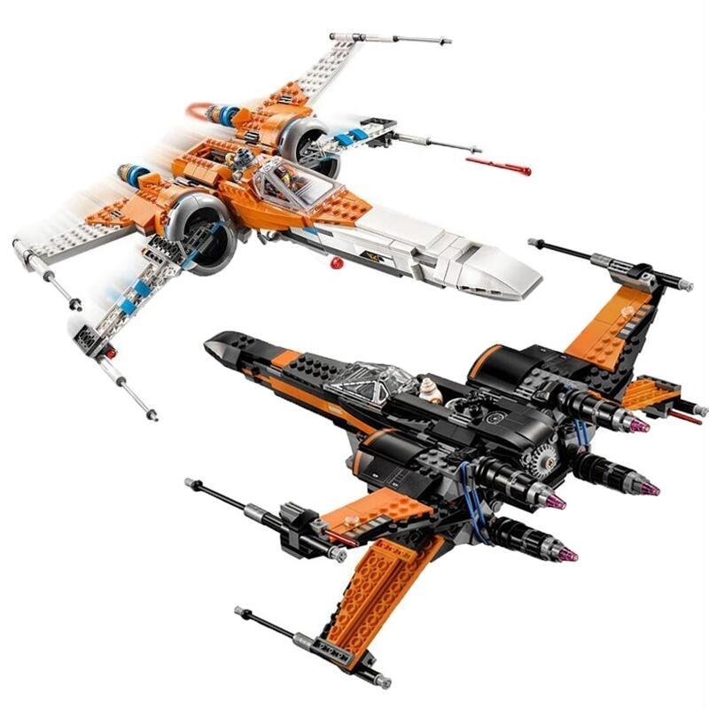 New Star Wars X Wing Star Tie Fighter Building Blocks With Star Plan Wars Children Toy 75149 79102 75211 75101