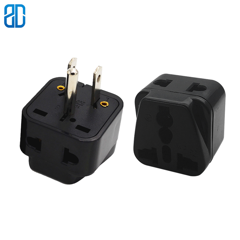 Kupfer USA <font><b>3pin</b></font> universal travel adapter stecker AU/<font><b>UK</b></font>/US/EU-US-power Adapter steckdose konverter image