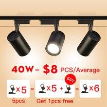 Spotlight-Lamp Rail-Lighting Fixture Track Led Aluminum 40W 12W 30W for Home 20W