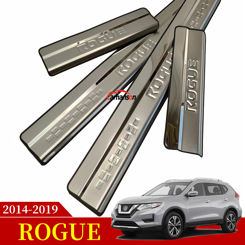 Stainless Steel Storage Box Trim Decoration For Nissan Rogue X-trail 2014 2015