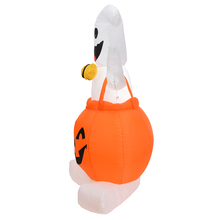 Halloween Yard Decor Pumpkin with Light Inflatable Blow Up Ghost on for Outdoor Decoration