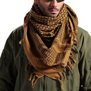 Image 5 - Thời trang Nam Nhẹ Vuông Ngoài Trời Chiến Thuật Sa Mạc Chân Quân Đội Quân Ả Rập Shemagh Keffiyeh Arafat Khăn Quàng Cổ Thời Trang mới 2020