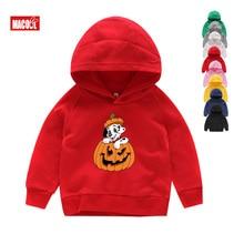 girls Hoodies halloween costume  Sweatshirts Kitty dog Pumpkin Children Winter Tops Boy Cartoon Cute autumn