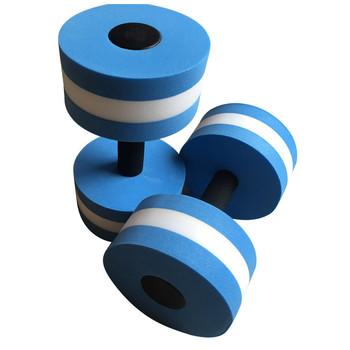 2 sztuk wody aerobik hantle EVA wodne brzana Fitness Aqua joga trening Fitness trening Aqua basen ćwiczenia basen trwałe tanie i dobre opinie CN (pochodzenie) Electroplate Water Dumbbells EVA Foam Kompleksowe ćwiczenia Fitness NONE