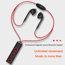 цена на Wireless Sport Bluetooth Earphones Stereo Music Earphone For iPhone Samsung Xiaomi Magnetic Headset Earphone With Microphone