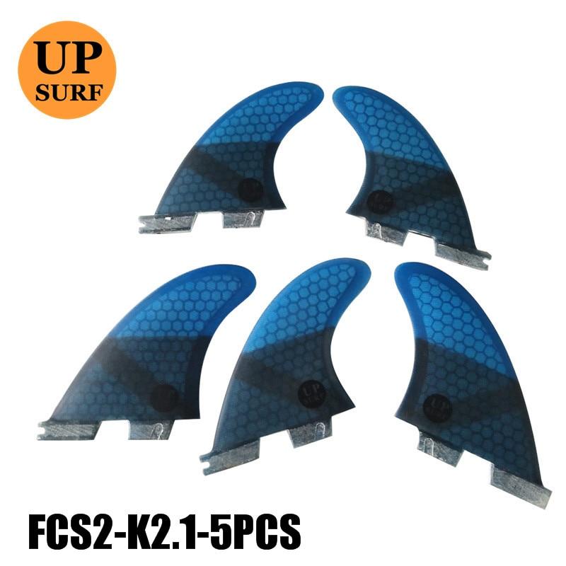 FCS2 Fins K2.1 FCS II Blue Thruster Fin Set Fiberglass Tri-quad Fins Surf Fins Water Sports Quillas Surf