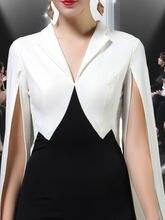 Черное и белое вечернее платье стильное с рыбьим хвостом стильные